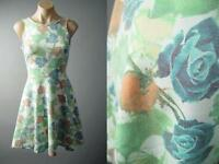Colorful Rose Garden Floral 50s Skater Fit&Flare Party Sun 126 mv Dress S M L