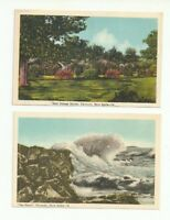 GREAT LOT OF 2 YARMOUTH, NOVA SCOTIA, CANADA VINTAGE POSTCARDS