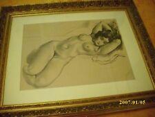 dessin nue au crayon gras  etude nue de SEVERIN DE RIGNER