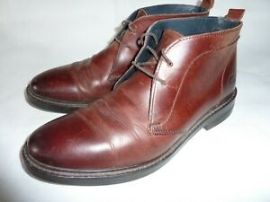 Mens Base London Blenheim Leather Chukka Boots Brown Lace Up UK 8 EU 42 Shoes
