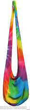 Rainbow Tie Dye Beach Bag Crossbody Multi Color Hippie Boho NEW Summer Casual