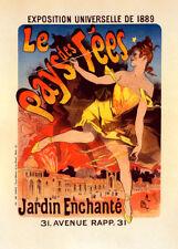 l'Exposition Le Pays de Fées by Jules Cheret 90cm x 64cm Art Paper Print