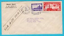 DOMINICAN REPUBLIC air cover 1932 Santa Domingo to USA