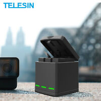 TELESIN For Gopro Hero 8 7 6 5 3 slots travel charging Battery charger Storage
