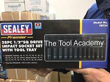 "BRAND NEW!! Tool Tray + DEEP & STANDARD Impact Socket Set 28pce 1/2"" Metric"