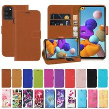 Case For Samsung Galaxy A21S A41 A01 A31 A20S PU Leather Wallet Flip Stand Cover