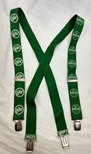 Men's Vintage MGM Miller Genuine Draft Beer/Miller Lite Green Suspenders Clip On