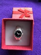 P New In Gift Box Silver Metal Watch Style Ring Size