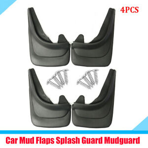 4Pcs Car Truck Mud Flaps Mudguards Fender Dust Guards Protect Cover + 8x Screws