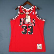 100% Authentic Scottie Pippen Mitchell Ness Bulls Finals Jersey Size Mens 48 XL
