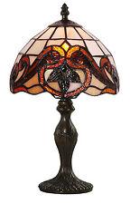 Mission Style Tiffany UNIQUES Verre Teinté LAMPE BUREAU TABLE - 7.9'' large