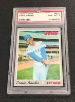 Chicago Cubs Ernie Banks 1970 Topps #630 PSA 8 Near Mint-Mint