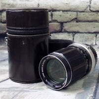 Minolta 135mm Camera Lens MC Tele Rokkor QD F3.5 w/ Case