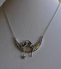 KIRKS FOLLY DRAGON MOON DREAMER NECKLACE  IN SILVER TONE