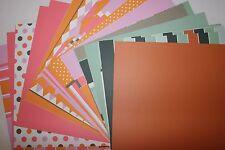 Lot 31 Making Memories Avenue C Coral & Gray 12x12 Scrapbook Cardstock Paper