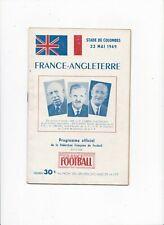 More details for 1949 france v england (friendly)