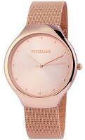 Excellanc Damenuhr Rosègold Analog Metall Meshband Armbanduhr X1300016003