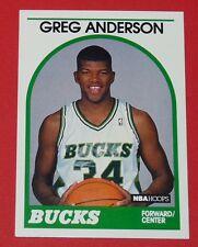 # 342 GREG ANDERSON BUCKS MILWAUKEE 1989 NBA HOOPS BASKETBALL CARD