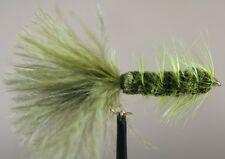 Freshwater Fly Fishing Flies (Bass, Bream, Perch, Trout) Wooly Bugger Olive (6)