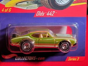 Hot Wheels ~ Olds 442 ~ 2004 HWC Real Riders #4/6 ~  Spectraflame Yellow