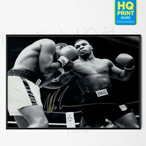 MIKE TYSON POSTER Boxing Fight Signed Vintage Poster Photo Print | A4 A3 A2 A1 |