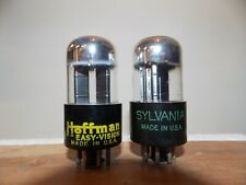 Sylvania 6SN7GTA  1954 code vacuum tubes tested and guaranteed