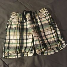 GYMBOREE Elastic Waistband White Plaid Shorts Boy's Toddler 18-24 Months NICE!