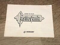 Castlevania Instruction Manual Booklet Nintendo Nes Authentic