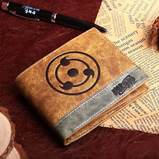 Anime NARUTO Mixed color PU wallet w/Kakashi/Uchiha Sasuke/Itachi Sharingan mark