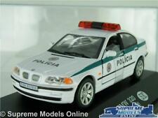 BMW 320 MODEL POLICE CAR 3 SERIES 1:43 SCALE POLICIA SK 2001 WHITE (CASE) K8