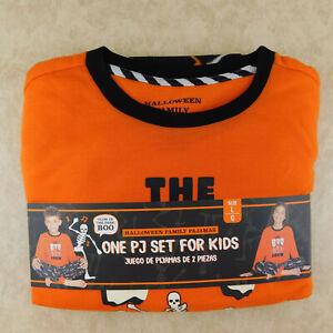 Kid's Matching Family Pajamas HALLOWEEN BOO CREW 2 Pc. KIDS LARGE Glows in Dark