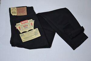 Jeans Levi's 534 nero, vita alta, vestibilità comoda, vintage