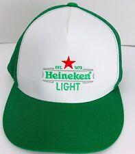 Heineken Light Green White Truckers Hat Mesh Sides Adjustable Cap