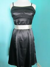 M&CO BLACK/BEIGE EVENING PROM PARTY DRESS SIZE 12 PETITE LINED ADJUSTABLE STRAPS