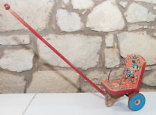 Vintage The Gong Bell MFG Co. Made in USA Wood Child Pull Toy