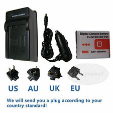 Battery+charger for SONY NP-BG1CyberShot DSC-W290 W300 H70 H9 H7 H3 H20 H55 T100