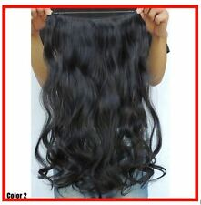 "NATURAL BLACK #1/1BJ  HAIR EXTENSIONS HALO STYLE 20"" PRINCESS TRESSES"