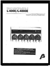 Beta Technologies L-4000 Chemical Dispenser, Programming Guide