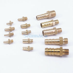 LOT 5 Hose tail Barb I/D 3-10mm x Metric Male Brass Splicer Connector Fitting