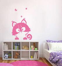 ik379 Wall Decal Sticker cute kitten looks curious animal cat living kids