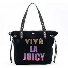 NWT Juicy Couture ''Viva La Juicy'' Black Velvet & Sequin Large Tote Bag $99