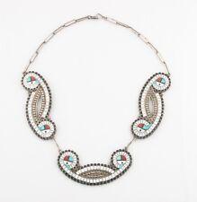 Exquisite Native American Zuni Sun God Necklace