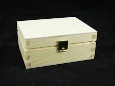 SMALL Plain Legno Storage gioielli portagioie scatola artigianale decoupage