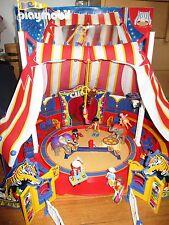 grand cirque playmobil  personnages & élèphants...  + boite , poster ...