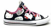 Converse Unisex Kids CTAS OX Skate Shoes Hello Kitty Black Pink Size 12