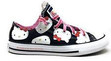 Converse Unisex Niños Ctas Ox Zapatillas Skate Hello Kitty Negro Rosa Talla 12