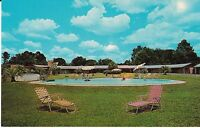 "Waycross GA  ""The Palms Court Swimming Pool"" Postcard Georgia"