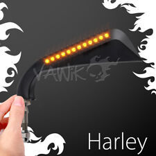 VAWiK pair mirrors AXE black aluminum LED for Harley V-ROD MUSCLE NIGHT ROD