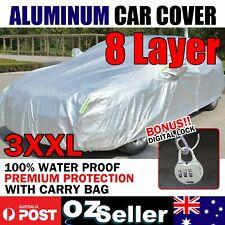 8 Layer Aluminum Cars Cover Outdoor WaterProof Rain UV  Sun Dust Brid Resistant