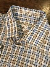 Men's Peter Millar Button-Front Shirt Plaid Checks XL